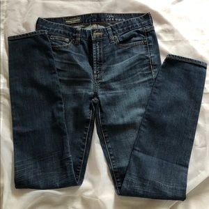 J. Crew Midrise Toothpick Jeans in blue